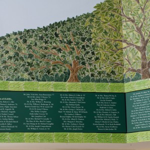 Donor Wall - Archmere Academy - Detail