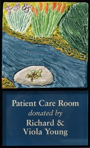 Doylestown Hospital Room Plaque Photographed by Carol Bates Photography