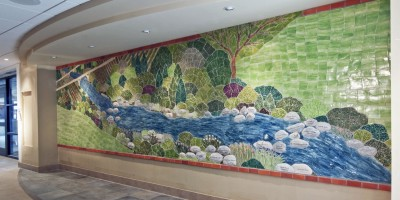 Donor Wall - Doylestown Hospital - Angle View