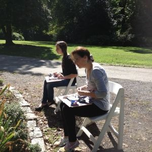 En Plein Air Karen Singer TileWorks Workshop