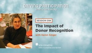 Karen talks with Iris Creative about the importance of donor recognition